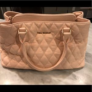 Vera Bradley pink quilted leather Emma satchel